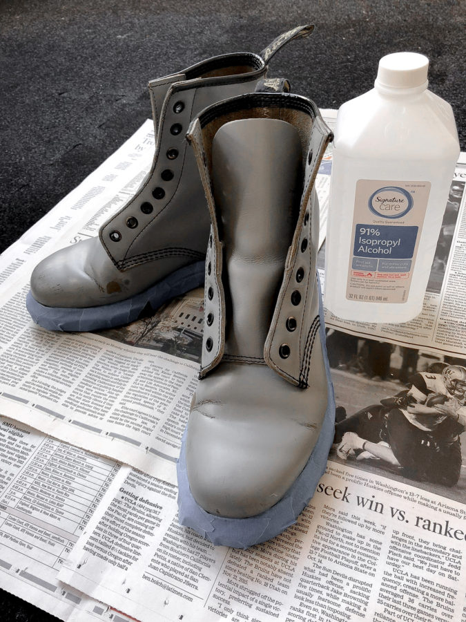 706c7439589 HOW TO PAINT LEATHER BOOTS